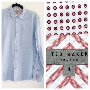 Ted Baker London vertical line button down shirt